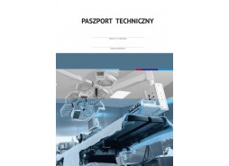 Paszport techniczny z okładką pokrytą lakierem wybiórczym UV - 01