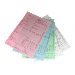 CMR Międzynarodowy list przewozowy CMR - 1+4 samokopiujący, kolorowy papier