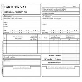 Faktura VAT 2/3 A5 netto - samokopiująca