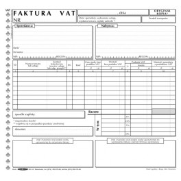 Faktura VAT 2/3 A4 uniwersalna - samokopiująca