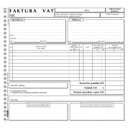 Faktura VAT netto (1 stawka VAT) - samokopiująca