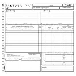 Faktura VAT brutto uniwersalna - samokopiująca