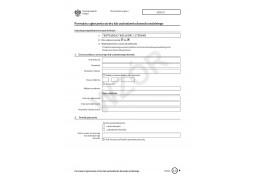 Formularz zgłoszenia utraty lub uszkodzenia dowodu osobitego 2015
