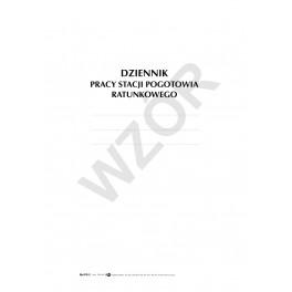 Dziennik pracy Stacji Pogotowia Ratunkowego (twarda oprawa)