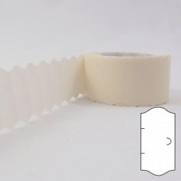 Taśma 1 rzędowa karbowana biała