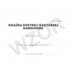 Książka kontroli sanitarnej samochodu