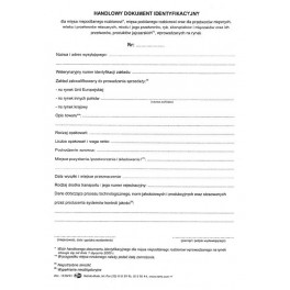 Handlowy dokument identyfikacyjny - samokopiujący