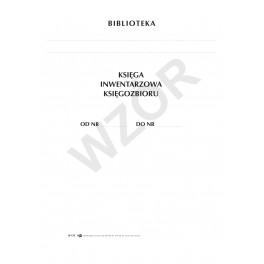 Księga inwentarzowa księgozbioru (tw. opr.)