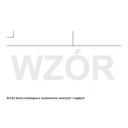 Karta katalogowa wydaw. zwartych i ciągłych  bez linii (K)