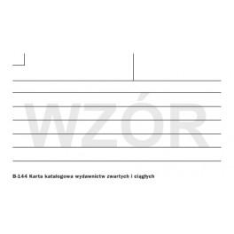 Karta katalogowa wydaw. zwartych i ciągłych  liniowana (K)