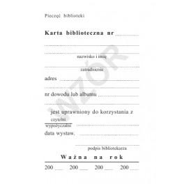 Karta biblioteczna (K)