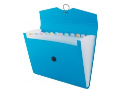 Teczka A4 D.RECT z przegródkami niebieska