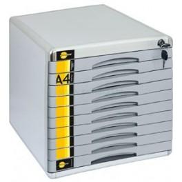 Szafka metalowa na dokumenty Yellow One 10 szuflad