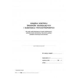 Książka kontroli środków odurzających i psychotropowych (dla aptek, hurt. farm.)