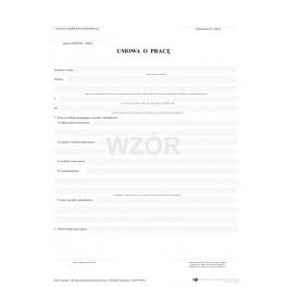 Umowa o pracę - samokopiująca