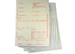 CMR Międzynarodowy list przewozowy CMR - 1+4 samokopiujący, kolorowy nadruk