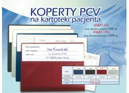 Obwoluta (koperta)  PCV na historię choroby z kieszonką na opis