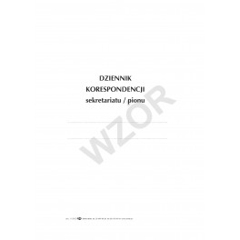 Dziennik korespondencji sekretariatu/pionu