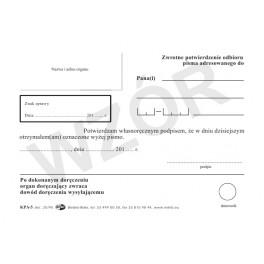 Zwrotne potwierdzenie odbioru - papier offsetowy
