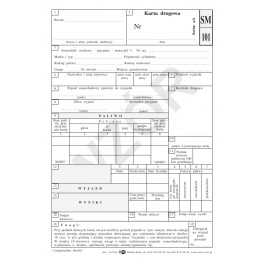 Karta drogowa samochodu osobowego