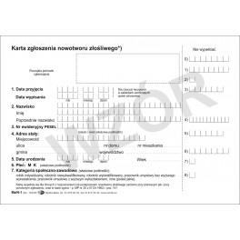Karta zgłoszenia nowotworu złośliwego (K)