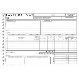 Faktura VAT netto uniwersalna - samokopiująca