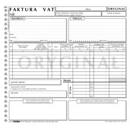 Faktura VAT (1+1) uniwersalna - samokopiująca  WZÓR 2013
