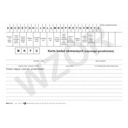 Karta badań okresowych czynnego poradnictwa (K)