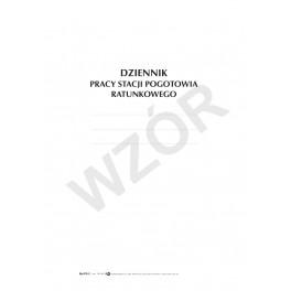 Dziennik pracy Stacji Pogotowia Ratunkowego (miękka oprawa)