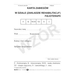 Karta zabiegów w dziale (zakładzie) rehab. - fizyk. (K)