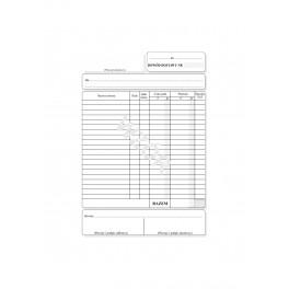Dowód dostawy z rubryką VAT - samokopiujący